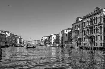 San Toma Traghetto Gondola on Venice Grand Canal.
