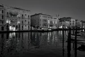 The Venice Grand Canal and the Ca' d'Oro Palace.