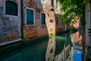 The Verona Canal in the Saint-Mark District in Venice.