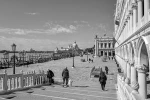 The Doge's Palace's Lace and the Saint-Mark Pier in Venice.