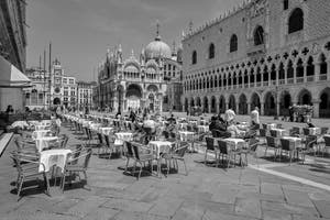 Saint-Mark Piazzetta, Doge's Palace and the Basilica in Venice.