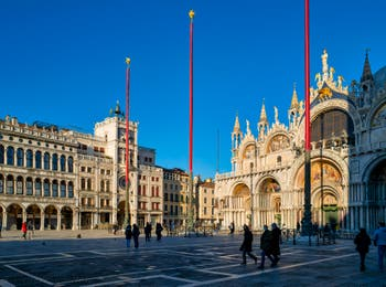 Saint-Mark's Square and Basilica in Venice.