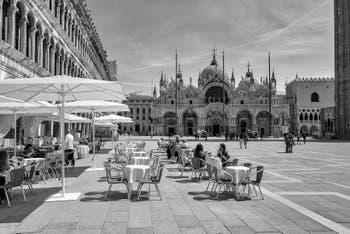 Saint-Mark Square and Basilica in Venice.