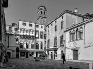 Santa Maria Mater Domini Square in the Santa Croce District in Venice.