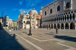 Saint Mark Basilica and the Doge's Palace in Venice.