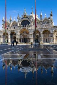 Saint Mark Square and Basilica in Venice.