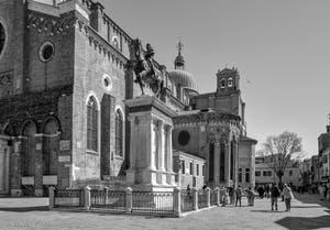 Santi Giovanni e Paolo Square in the Castello District in Venice.
