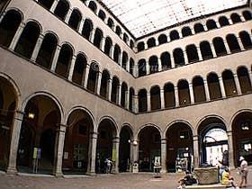 Inner courtyard of Fondaco dei Tedeschi in Venice