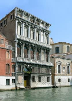 Flangini Palace Venice Italy on the Grand Canal