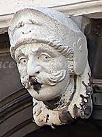 Sculpture Labia palace Venice Italy