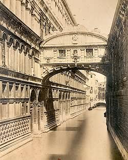 The Bridge of Sighs Photograph 1870 Naya Carlo