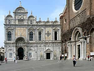 Scuola San Marco. On the right the church SS e Paolo