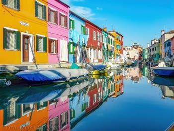 Burano Island in Venice, Fondamenta San Mauro Cavanella