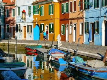 Burano Island in Venice, Fondamenta de Terranova