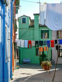 Coloured Houses of the Burano Island in the Venetian Lagoon