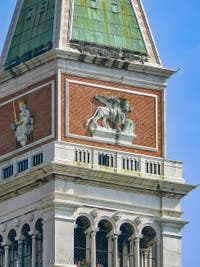 Saint-Mark Bell Tower and Square in Venice Italy