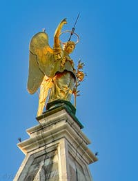 Saint-Mark Bell Tower's Angel in Venice Italy