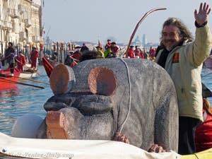 Venice Carnival on boat