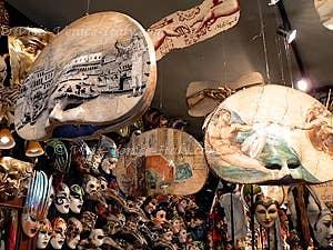 Masks of Venice carnival in Ca del Sol