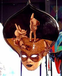 Painted venice carnival mask Ca' del Sol