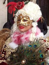Pretty Mask in the Venice carnival