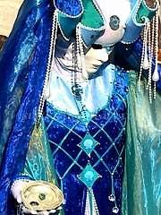 Venice Carnival mask blue gold