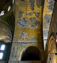 Saint-Mark Basilica, Apse's Mosaics, in Venice in Italy