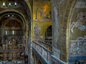 Apse mosaics in Saint-Mark basilica in Venice Italy