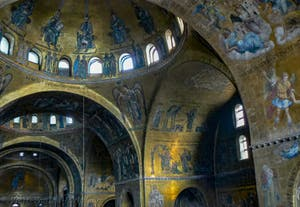 Saint-Mark Basilica Apse's Mosaics in Venice in Italy
