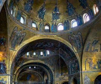 Saint-Mark Basilica Apse's Mosaics in Venice in Italy