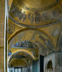 Saint-Mark Basilica, Atrium's Mosaics, in Venice Italy