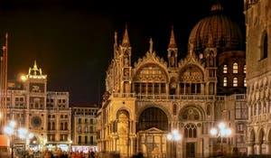 Saint-Mark Basilica Facade, in Venice Italy