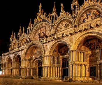 Saint-Mark Basilica in Venice by night