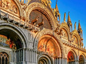 Saint-Mark Basilica Facade, in Venice Italy