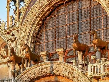 Saint-Mark Basilica's Bronze Horses in Venice Italy