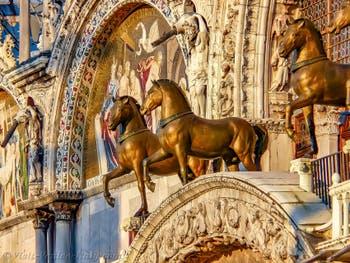 Saint-Mark Basilica's Horses in Venice in Italy