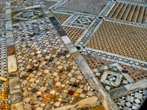 Saint-Mark Basilica Ground Mosaics, in Venice in Italy