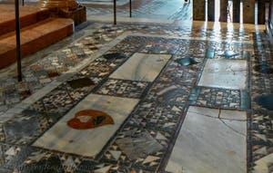 Saint-Mark Basilica Floor Marble Mosaics, in Venice in Italy