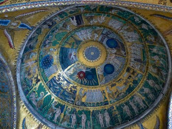 Saint-Mark Basilica, Coupola of Genesis, the creation of the world, in Venice in Italy
