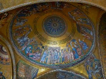 Saint Mark Basilica Mosaics, the Cupola with Joseph, in Venice in Italy