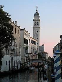 Bell tower of San Giorgio dei Greci Venice Italy