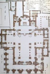 Greek Cross with Narthex plan of Saint-Mark Basilica in Venice in Italy