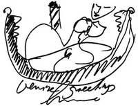 Luciano Castelli Venice, love in gondolas