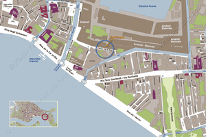 Situation Map of Biennale of Art Arsenal Pavilions in Venice Italy