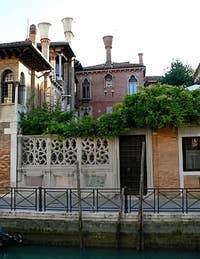Private garden Fondamenta del Gaffaro Venice Italy
