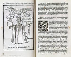 Aldo Manunzio printed book Hypnerotomachia Poliphili, in Venice in Italy