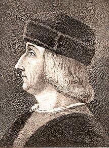 Portrait of Aldo Manuzio Venice Italy