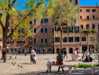 Campo de Ghetto Novo Square in Venice in Italy