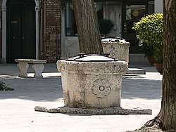16th century jewish ghetto in venice Wells of the Campo Ghetto Nuovo