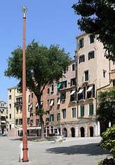 Venice Jewish Ghetto Campo Nuovo in Venice Italy